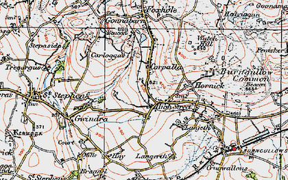 Old map of High Street in 1919