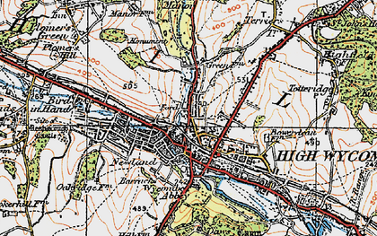 Old map of High Wycombe in 1919
