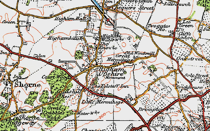 Old map of Higham in 1921