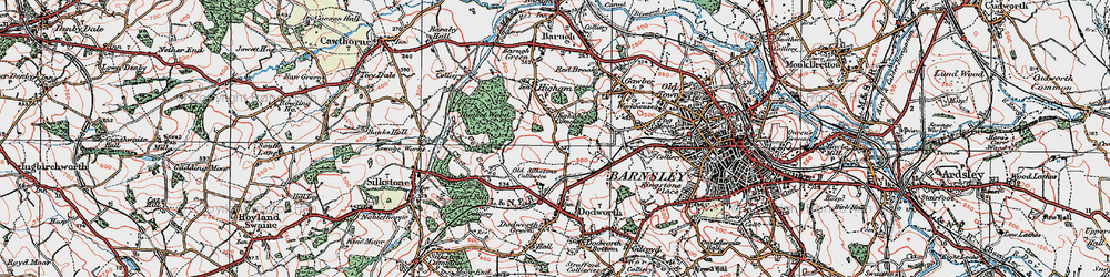 Old map of Higham Common in 1924