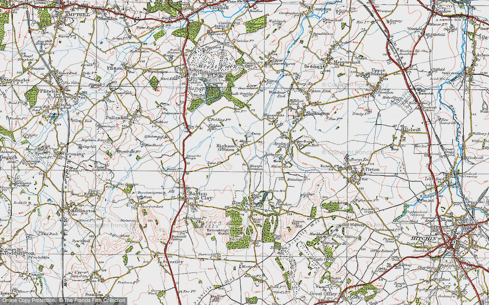 Old Map of Higham Gobion, 1919 in 1919