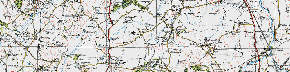 Old map of Westhey Manor in 1919