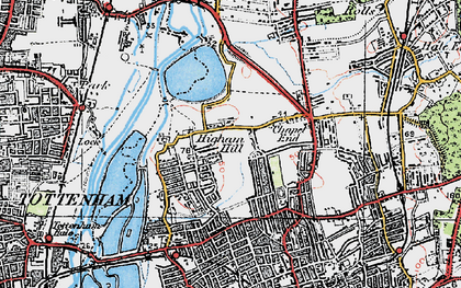 Old map of Banbury Resr in 1920