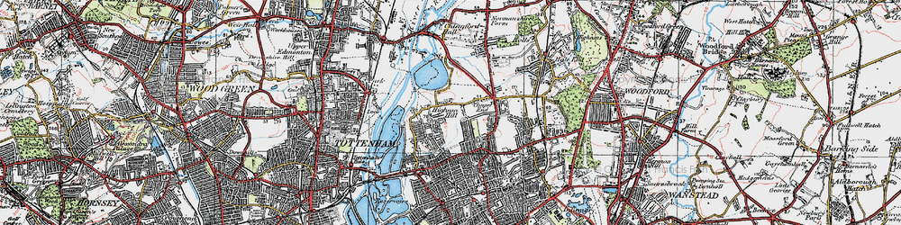 Old map of Higham Hill in 1920
