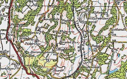 Old map of Whitestone in 1920