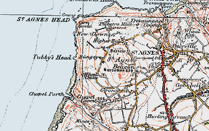 Old map of Higher Bal in 1919