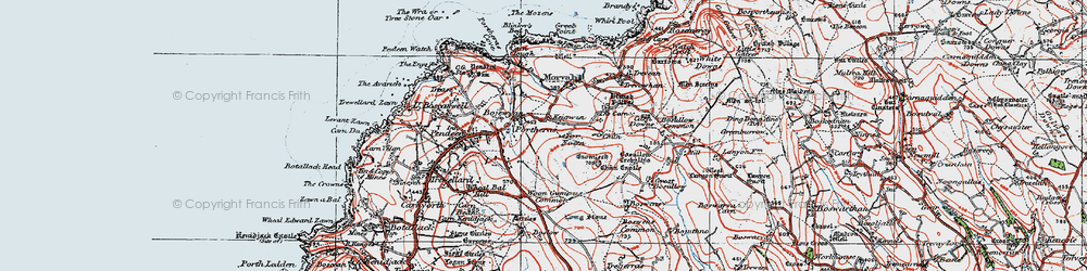 Old map of Woon Gumpus Common in 1919