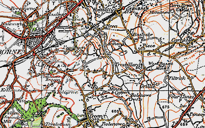 Old map of Higher Condurrow in 1919