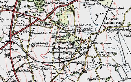 Old map of Babylon in 1924