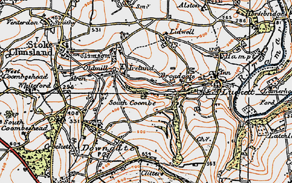 Old map of Higher Land in 1919