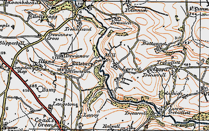 Old map of Higher Larrick in 1919