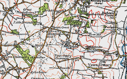 Old map of Tipton Cross in 1919