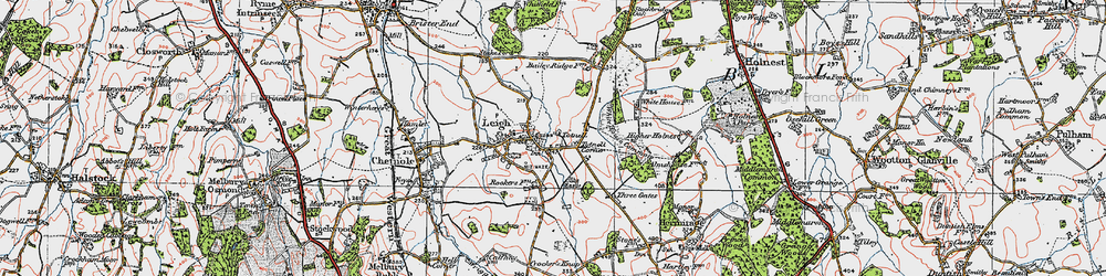 Old map of White House Common in 1919
