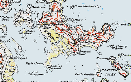 Old map of Eastern Isles in 1919
