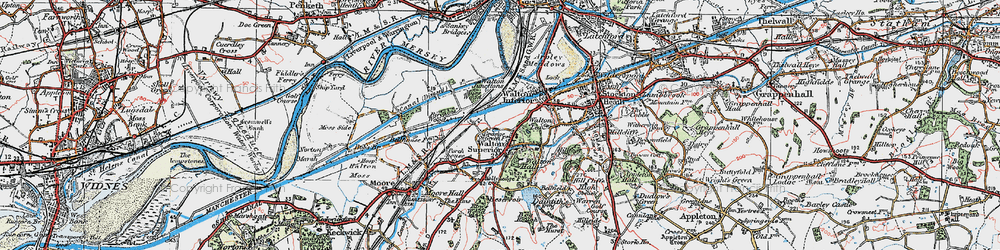 Old map of Higher Walton in 1923