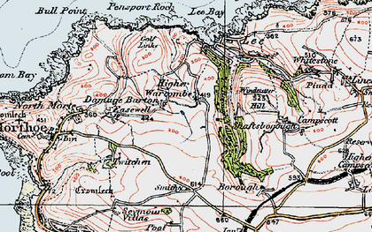Old map of Lee Bay in 1919