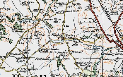 Old map of Sandholes in 1921