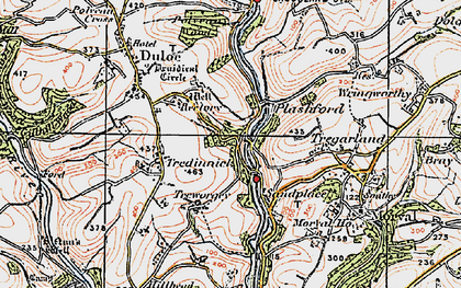 Old map of Highercliff in 1919