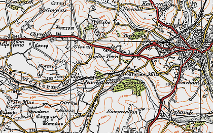 Old map of Highertown in 1919