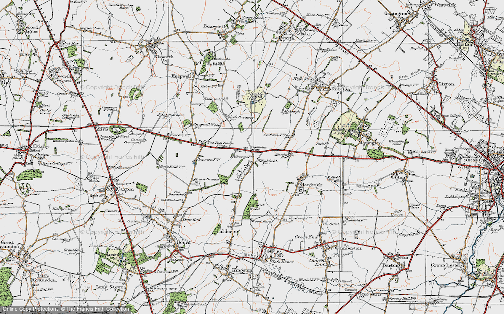 Old Map of Highfields, 1920 in 1920