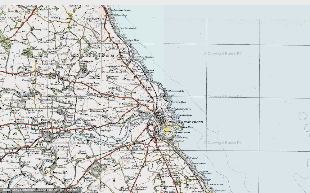 Old Map of Historic Map covering Letham Shank in 1926