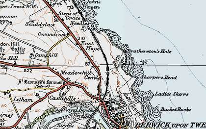 Old map of Letham Shank in 1926