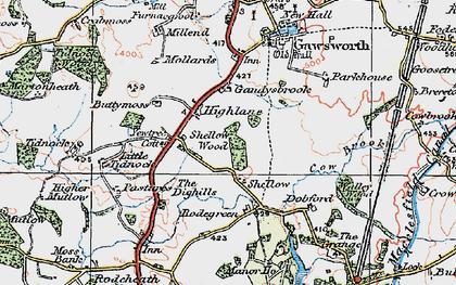 Old map of Gandysbrook in 1923