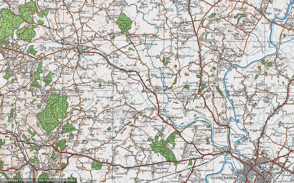 Old Map of Historic Map covering Limbury in 1919