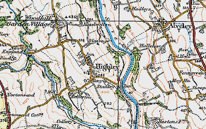 Old map of Highley in 1921