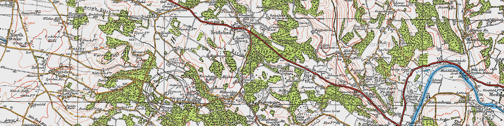 Old map of Westleaze Cottages in 1919