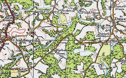 Old map of White Beech in 1920