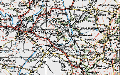 Old map of Hightown in 1923