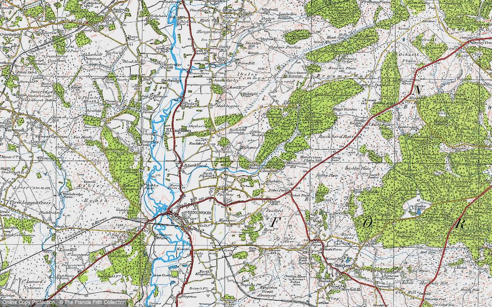 Old Map of Highwood, 1919 in 1919