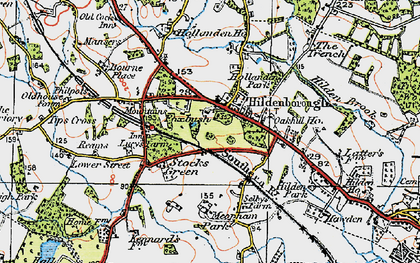 Old map of Alexander Ho in 1920