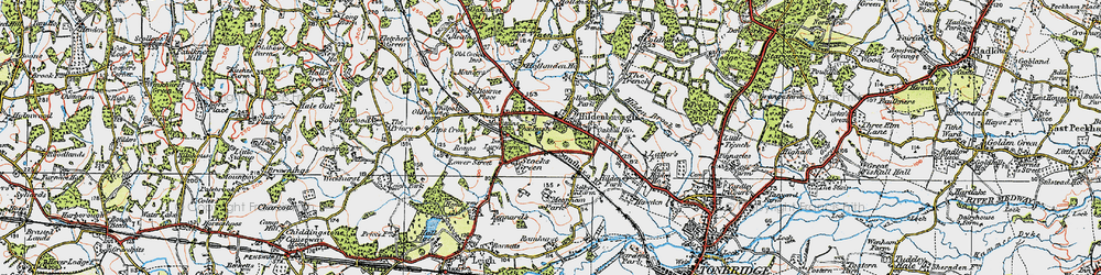 Old map of Hildenborough in 1920