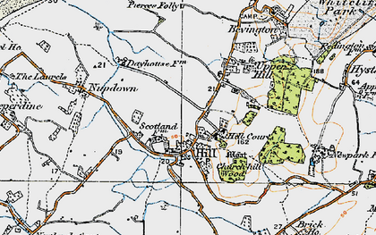 Old map of Hill in 1919