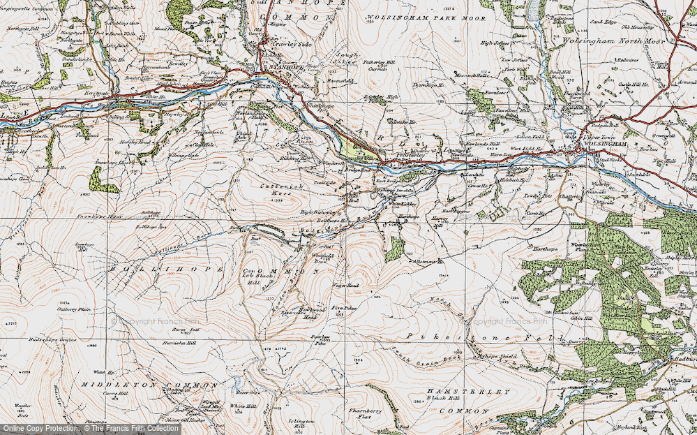 Old Map of Historic Map covering Allotment Ho in 1925