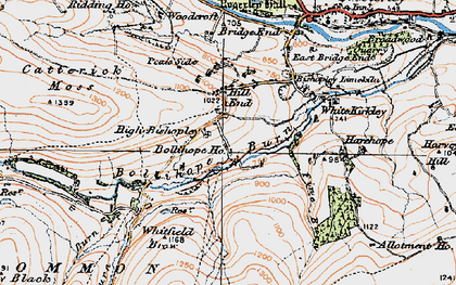Old map of Allotment Ho in 1925