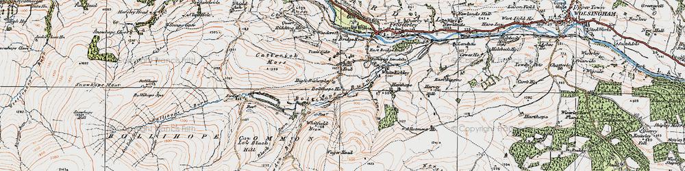 Old map of White Kirkley in 1925
