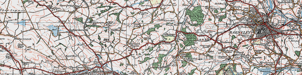 Old map of Hill Top in 1924