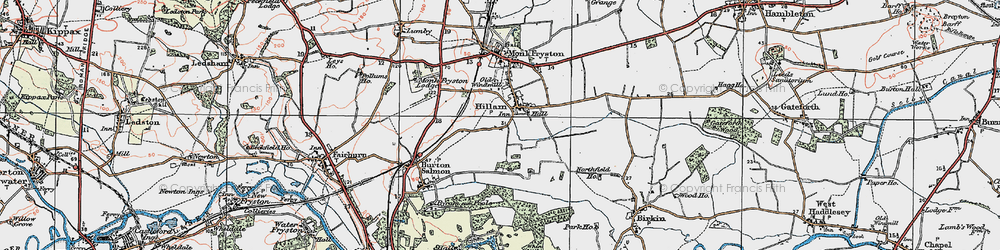 Old map of Hillam in 1924