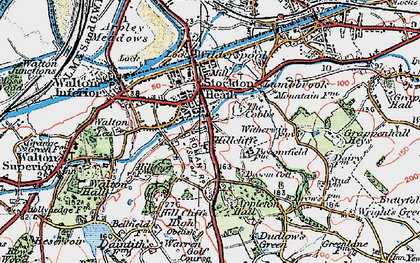 Old map of Hillcliffe in 1923