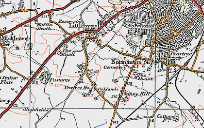 Old map of Hillcross in 1921