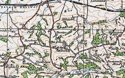 Old map of West Wotton in 1919