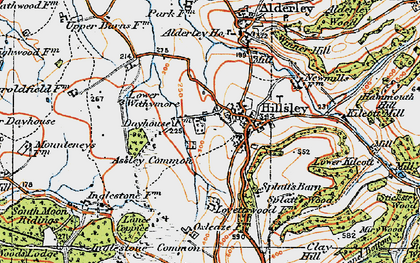 Old map of Assley Common in 1919