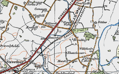 Old map of Williford in 1921