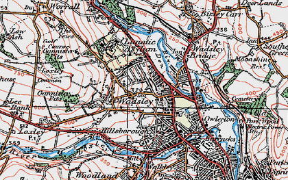 Old map of Hillsborough in 1923