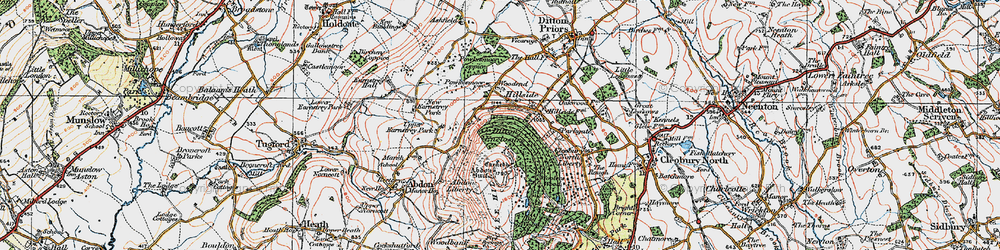 Old map of Abdon Burf in 1921