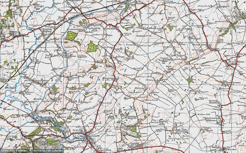 Old Map of Hilmarton, 1919 in 1919
