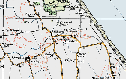 Old map of Admiral Storr's Tower in 1924